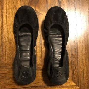 Black Tory Burch ballet flats